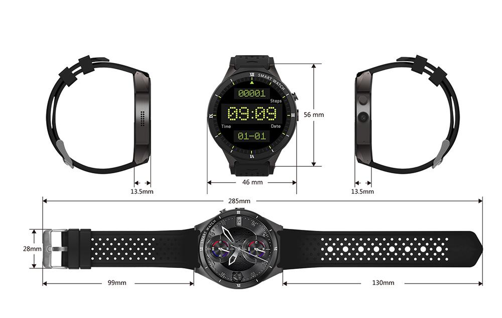 размер часов Kw88