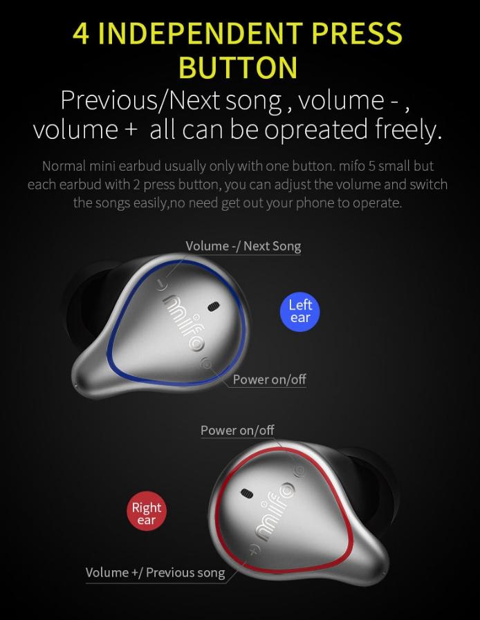 купити беспровыдны навушники Mifo 05