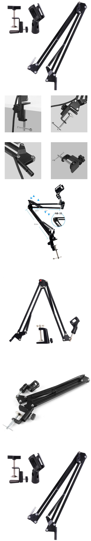 металлическая выдвижная стойка для записи микрофона штатив купить