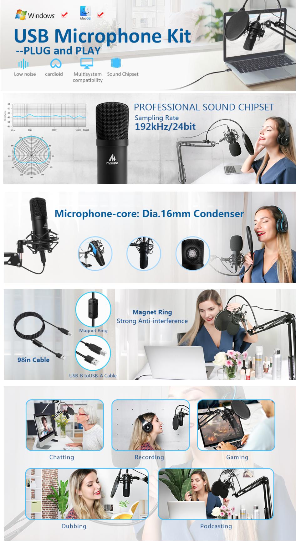 MAONO AU A04 USB микрофон купить