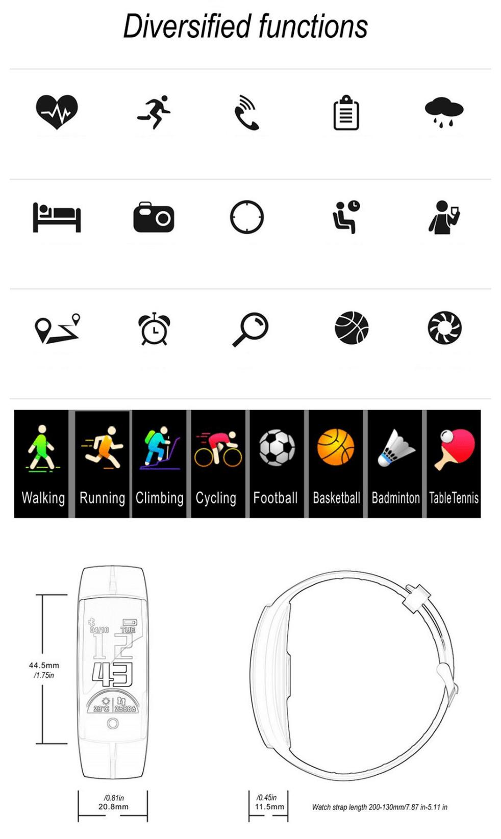 Фитнес браслет, smartbracelet QS100 купить в украине, киеве одесе, львове