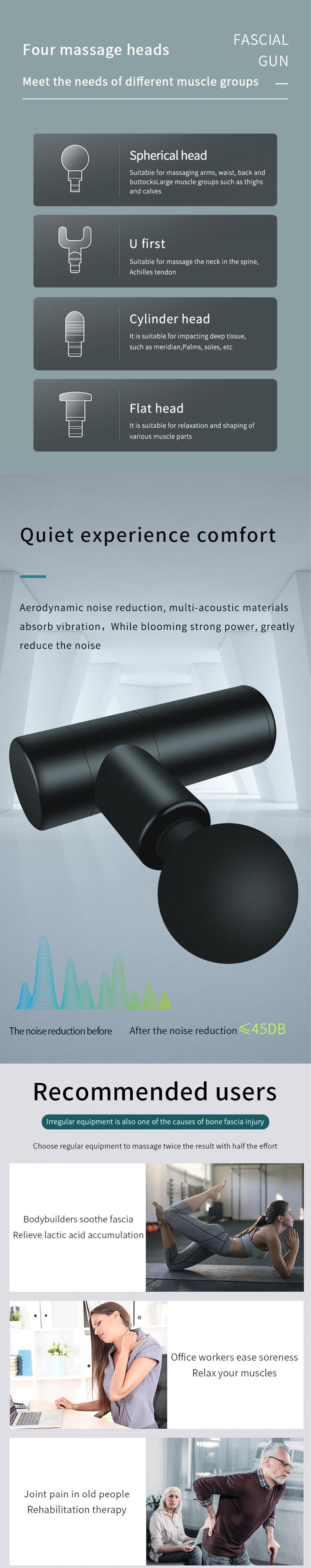 Мини электрический массажный пистолет, глубокий мышечный массажер для мышц
