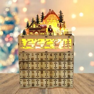 адвент календарь рождественский домик